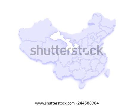 Gansu China Map.Map Gansu China 3 D Stock Illustration 244588984 Shutterstock