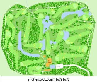 Map of a generic golf course