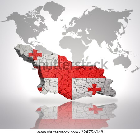 Map georgia georgian flag on world stock illustration 224756068 map of georgia with georgian flag on a world map background gumiabroncs Images