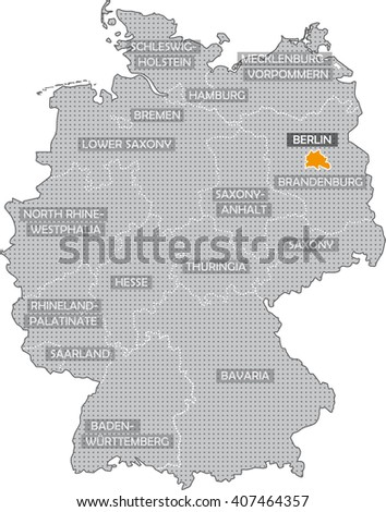 Map German Federal States In English Stock Illustration 407464357 ...