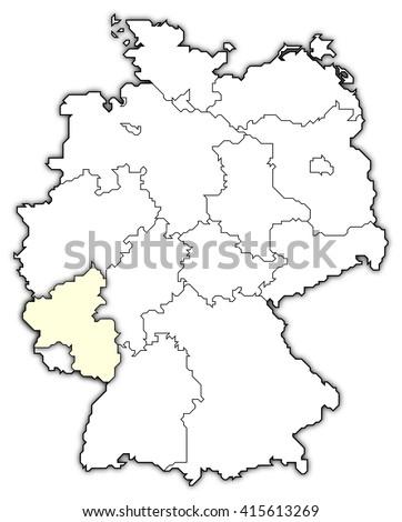 Map Of Germany Rhineland.Royalty Free Stock Illustration Of Map Germany Rhineland Palatinate