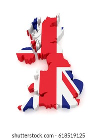 Map of Great Britain. 3D Illustration