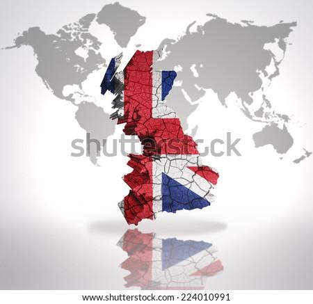 Map Great Britain British Flag On Stock Illustration Royalty Free