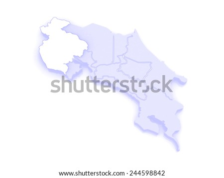 Map Guanacaste Costa Rica 3 D Stock Illustration - Royalty Free ...