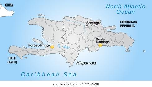 Hispaniola Map Images Stock Photos Vectors Shutterstock