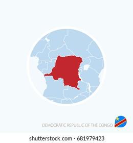 Map icon of Democratic Republic of the Congo. Raster copy.