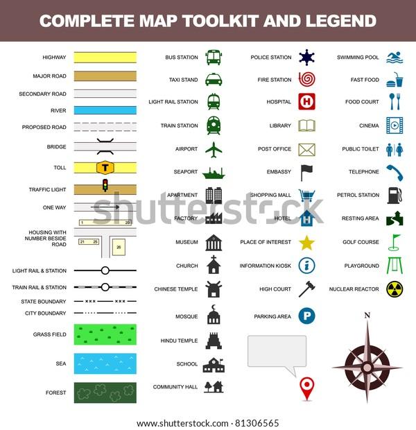 Symbol Symbol Symbol Symbol Toolkit Element Stockillustration 81306565