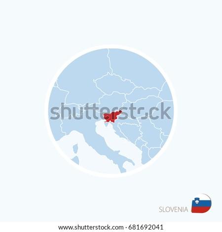 Map Icon Slovenia Blue Map Europe Stock Illustration - Royalty Free ...