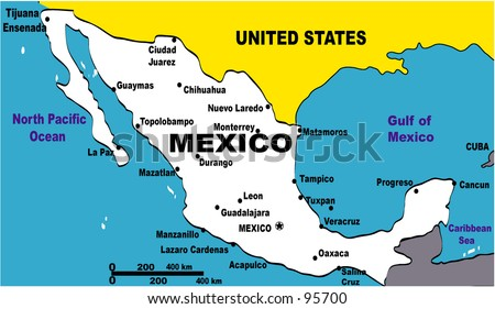 Royalty Free Stock Illustration Of Map Illustration Mexico Stock