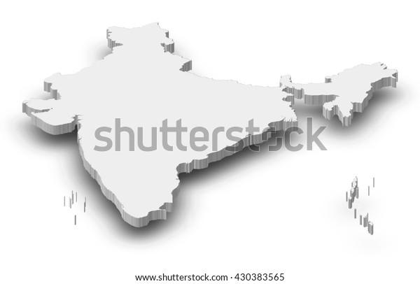 Kartta Intia 3d Kuvitus Arkistokuvitus 430383565