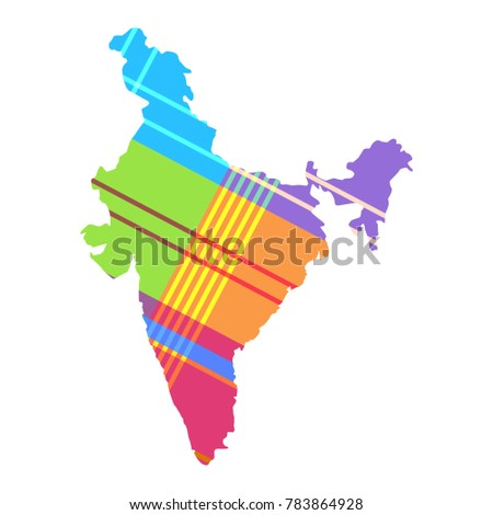 Madras India Map.Royalty Free Stock Illustration Of Map India Pattern Madras Cell