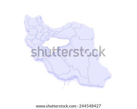 Map Isfahan Iran 3 D Stock Illustration 244548427 - Shutterstock
