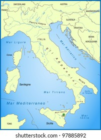 Map Italy Neighboring Countries Stock Illustration 97885898 ...