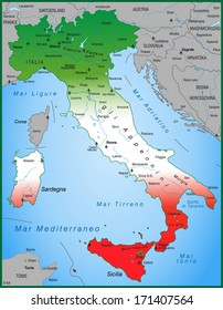 Map of Italy as an overview map