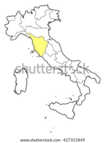 Map Italy Tuscany Stock Illustration - Royalty Free Stock ...