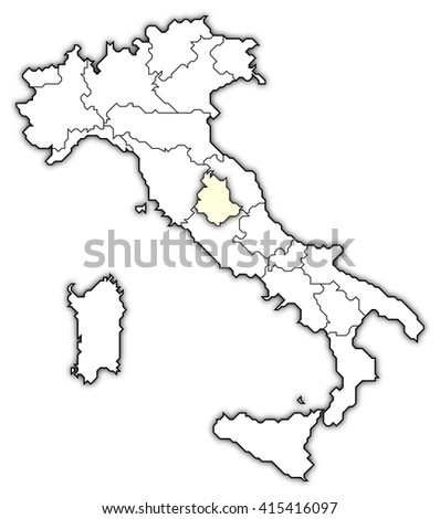 Map Italy Umbria Stock Illustration Royalty Free Stock