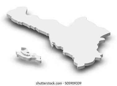 Map - Jizan (Saudi Arabia) - 3D-Illustration