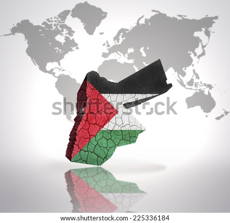 Map Jordan Jordan Flag On World Stockillustration 225336184 ...