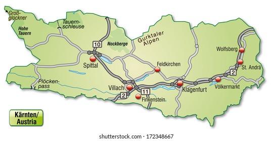 Landkarte Karnten Images Stock Photos Vectors Shutterstock