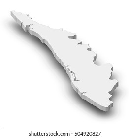 Map - Kerala (India) - 3D-Illustration