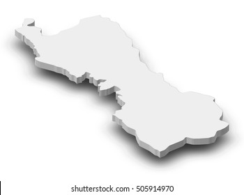 Map - Lima (Peru) - 3D-Illustration