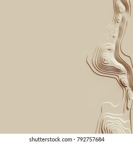 Map line of topography. Rendering abstract topographic map concept with space for your copy. 3D waves. 3D Cartography concep background. Map mockup infographics. World map Template. Wavy backdrop