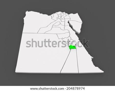 Map Luxor Egypt 3 D Stock Illustration 204878974 Shutterstock