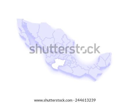 Map Michoacan Mexico 3 D Stock Illustration 244613239 - Shutterstock