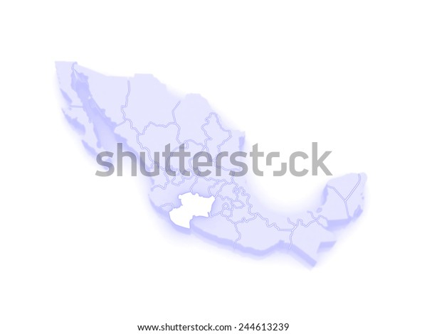 Map Michoacan Mexico 3d Stock Illustration 244613239