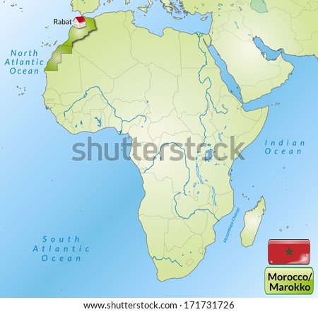Map Morocco Main Cities Green Stock Illustration 171731726 ...