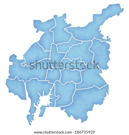 Map Nagoya Japan Stock Illustration 186735929 - Shutterstock