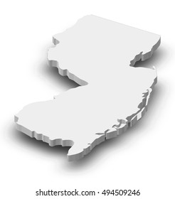 Map - New Jersey (United States) - 3D-Illustration