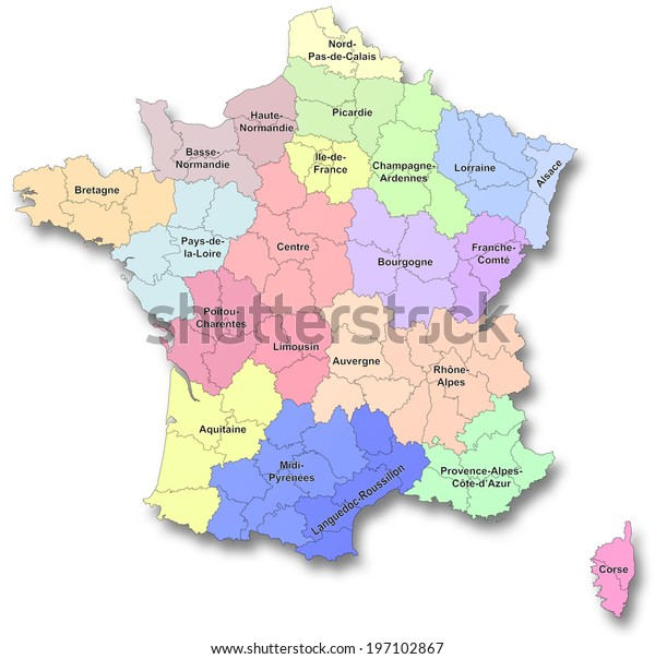 Map Of France New Regions.Map New Regions France Stock Illustration 197102867