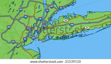 Map New York City Surrounding Areaready Stockillustration ...