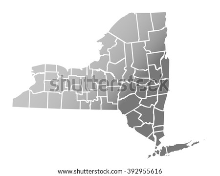 Royalty Free Stock Illustration of Map New York State United States ...