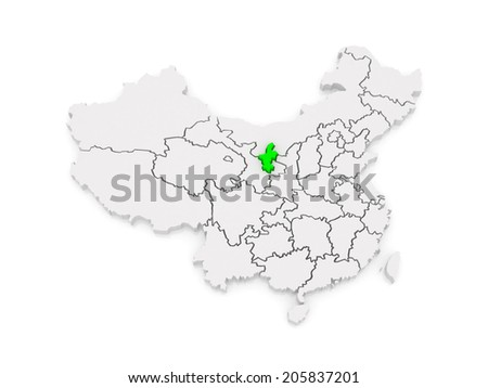 Ningxia China Map.Map Ningxia Hui Autonomous Region China Stock Illustration Royalty