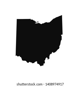 Map Of Ohio. Raster illustration