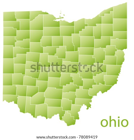Map Ohio State Usa Stock Illustration - Royalty Free Stock ...