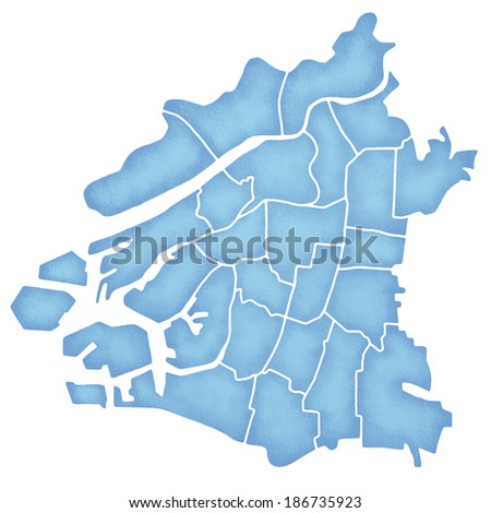 Map Osaka Japan Stock Illustration Royalty Free Stock Illustration