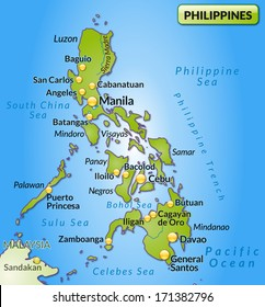 Manila Philippines World Map.Manila Philippines Map Stock Illustrations Images Vectors