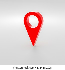 map pointer,location symbols in white background 3d rendering