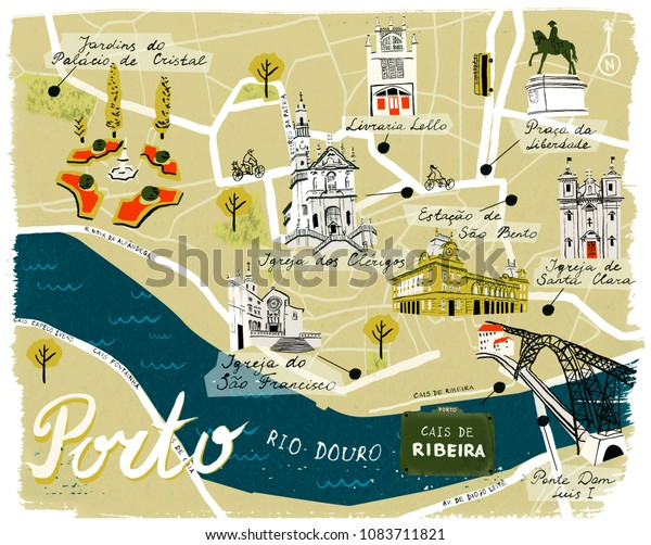 Porto Tourist Map Porto Portugal Mappery