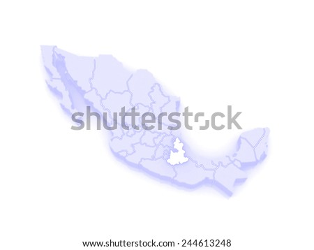Map Puebla Mexico 3 D Stock Illustration 244613248 Shutterstock