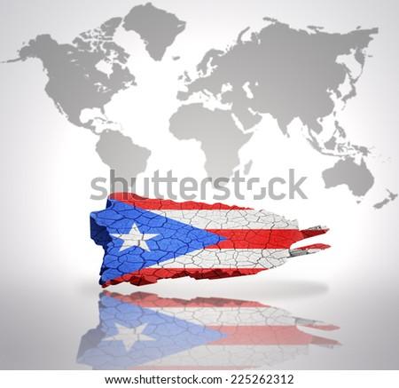 Map Puerto Rico Puerto Rican Flag Stock Illustration 225262312 ...