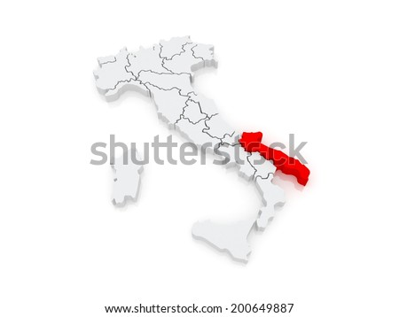 Royalty Free Stock Illustration Of Map Puglia Italy 3 D Stock