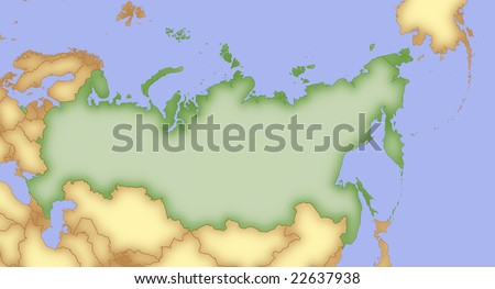 Map Russia Borders Surrounding Countries Stock Illustration 22637938 ...