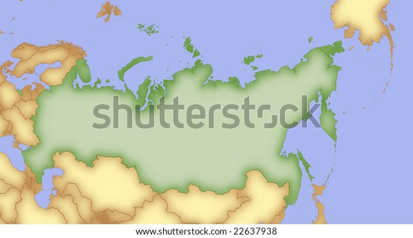 Map Russia Borders Surrounding Countries Stock Illustration ...