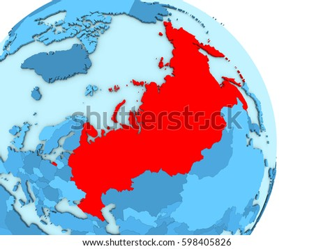 Map Russia On Simple Blue Political Stock Illustration 598405826 ...