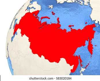 Map Russia On Simple Blue 3 D Stock Illustration 584852215 ...