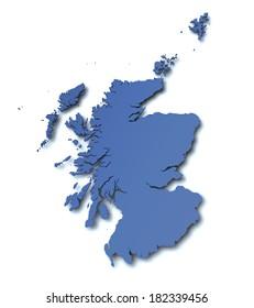 Map of Scotland - UK